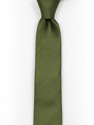 DRUMMEL Olive green Kinderkrawatte medium