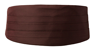 SOLID Brown Kummerbund