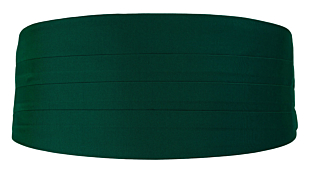 SOLID Dark green kummerbund