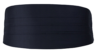 SOLID Dark navy kummerbund