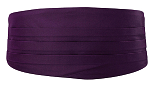 SOLID Dark purple Kummerbund