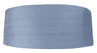 SOLID Light blue Kummerbund