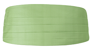 SOLID Light green kummerbund