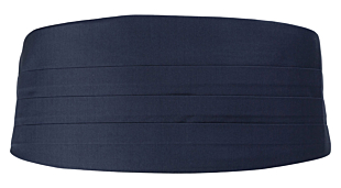 SOLID Navy blue kummerbund