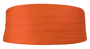 SOLID Orange Kummerbund