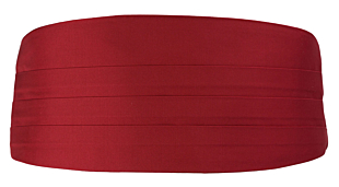 SOLID Red Kummerbund