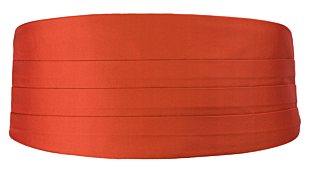 SOLID Rusty Orange Kummerbund