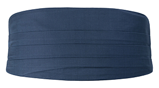 SOLID Steel blue Kummerbund