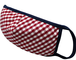 RED AND WHITE CHECKERS gesichtsmaske