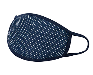 WHITE DOTS ON NAVY gesichtsmaske